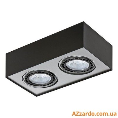 Azzardo Paulo 2 (GM4203-230V BK/ALU LED 15W WITH DIM)