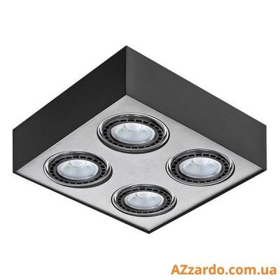 Azzardo Paulo 4 (GM4400-230V BK/ALU LED 15W WITH DIM)