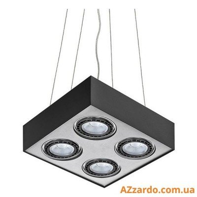 Azzardo Paulo 4 Pendant (GM5400-230V BK/ALU LED 15W WITH DIM)