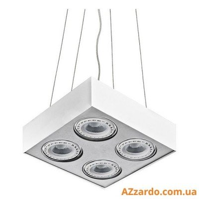 Azzardo Paulo 4 Pendant (GM5400-230V WH/ALU LED 15W WITH DIM)