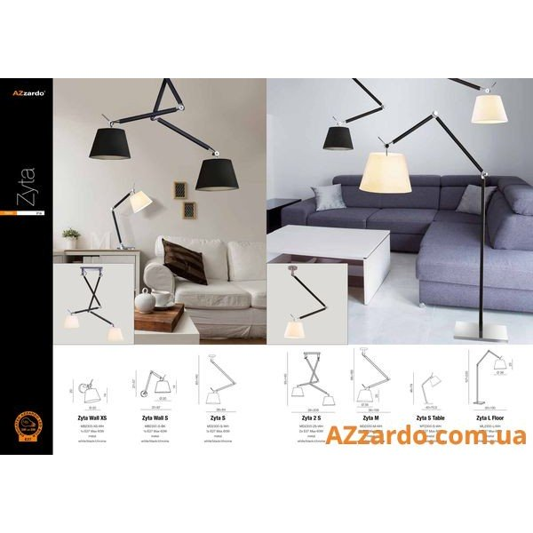 Azzardo Zyta 2 S (MD2300-2S WH)