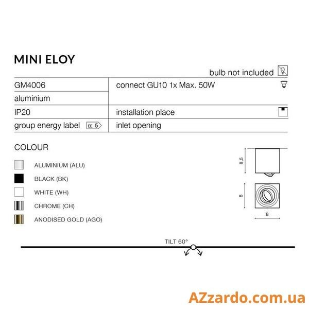 Azzardo Mini Eloy (GM4006 BK)
