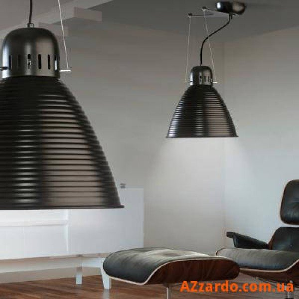 Azzardo Pyramid L (MD7311-1L BLACK+WHITE INSIDE)