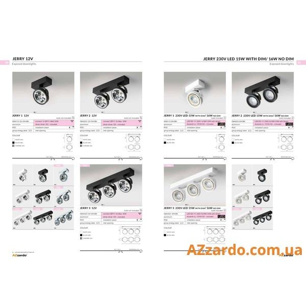 Azzardo Jerry 1 (GM4113-230V WH LED 15W WITH DIM)