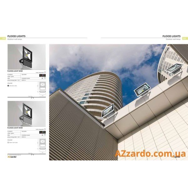 Azzardo Flood Light 80W (FL208002)