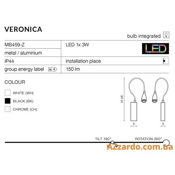 Azzardo Veronica (MB459-Z WH)